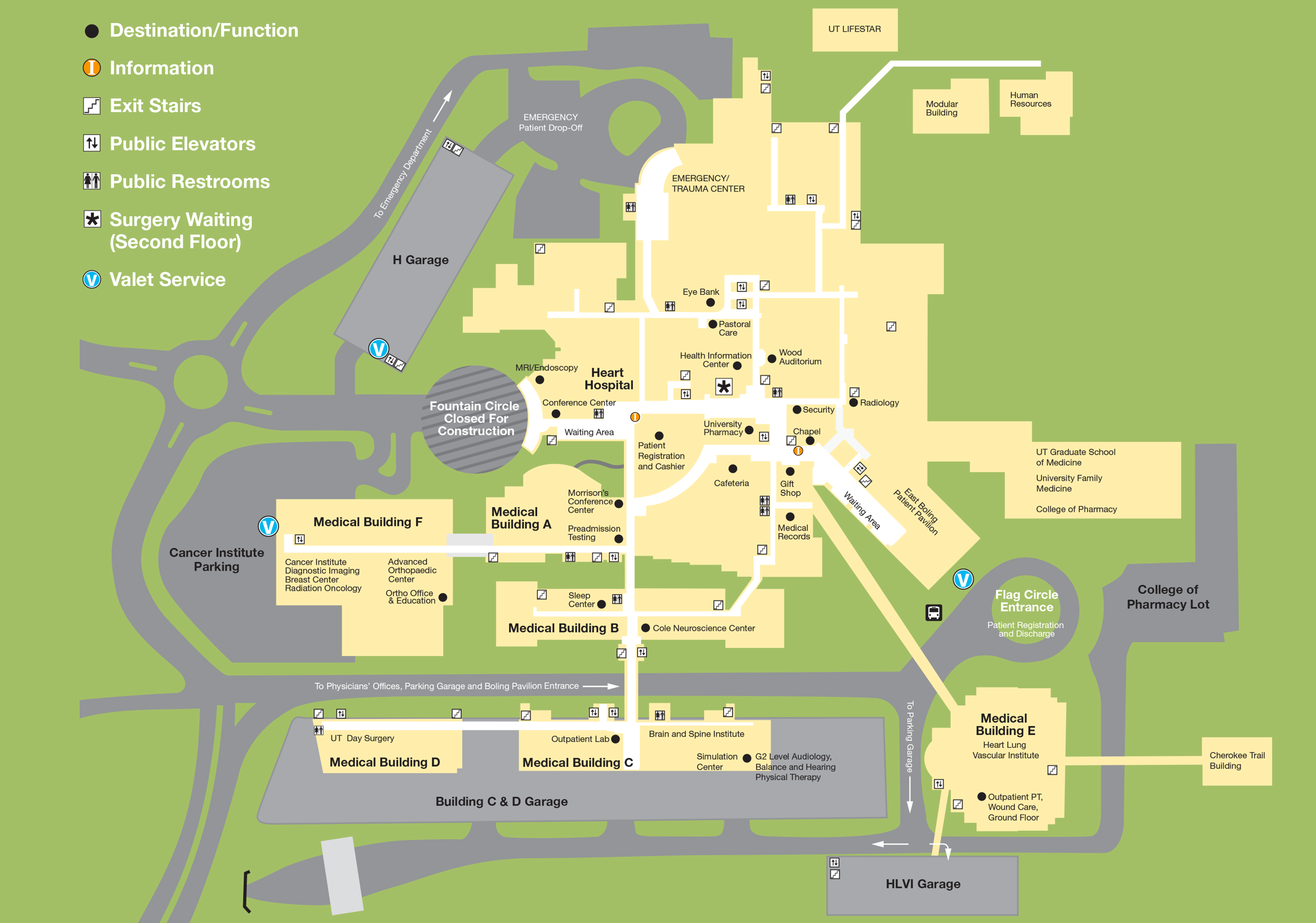 University Of Tennessee Knoxville Campus Map.Parking Directions Utmc