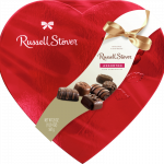 Heart-shaped box of Russell Stover candies for Valentine's Day